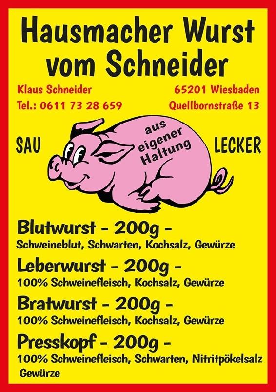 Schneiders Weinschlösschen Dosenwurst