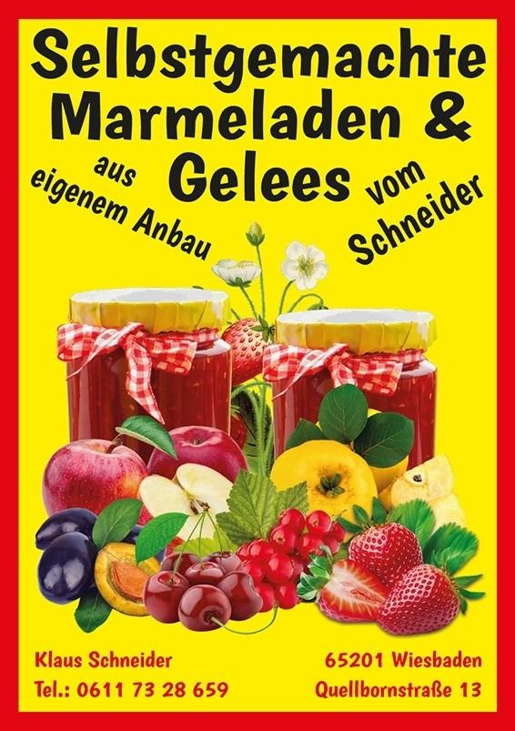 Schneiders Weinschlösschen selbst gekochte Marmeladen und Gelees